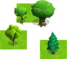 unusual vector trees