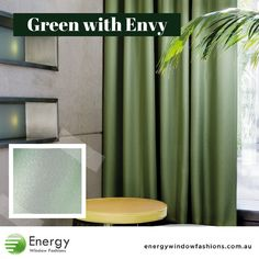 If these shimmery drapes don't turn your friends Green with Envy we don't know what will! Subtle horizontal stripe, coloured backing and 95% blockout fabric.