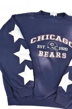 Upcycled VINTAGE Bears Star Sweatshirt – Tonguetied Apparel Hockey Outfits, Upcycled Vintage, Second Hand, 1990s, Bears, Two By Two, Sweatshirts, Sleeves, How To Wear