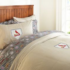 Big St. Louis Cardinal Fans....love this bedding from Pottery Barn!