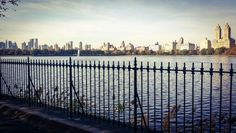 Skyline view from the Reservoir at Central Park