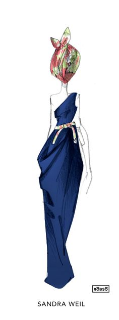 Rōbsō Illustration: Día 2 MBFWMx P/V 2015 // Live Sketches