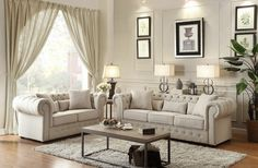 Homelegance Savonburg Natural Tone Living Room Set - Available at a price that's affordable and free delivery to your home from Coleman Furniture. Living Room Interior, Living Room Furniture, Home Furniture, Living Room Decor, Modern Furniture, Furniture Layout, Modern Sofa, Modern Decor, Furniture Websites