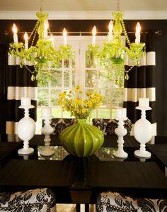 window panels, favorite color combination ~ black white green