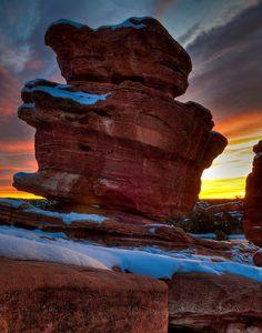 Balanced Rock - Garden of the Gods, Colorado Springs, Colorado