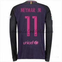 Billige Fodboldtrøjer Barcelona 2016-17 Neymar Jr 11 Langærmet Udebanetrøje
