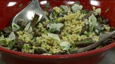 Israeli Couscous with mushrooms Oven Baked Bacon, Lemon Truffles, Couscous Recipes, Potato Rice, Asparagus Salad, Onion Soup, French Onion, Stuffed Jalapeno Peppers, Fresh Lemon Juice