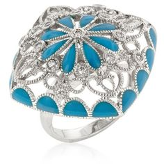 Blue French Victorian Ring from The BEST OF BOTH WORLDS BOUTIQUE MONOGRAM AND GIFTS for $25.00