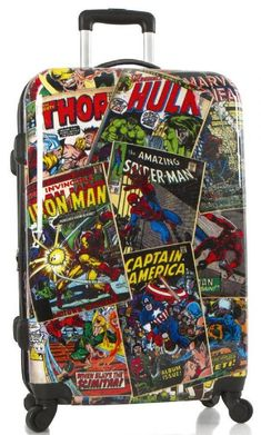 This luggage is created using Marvel design style guides for young adults. It features a zipper release expansion system that increase up to 20 % more packing space. Incredibly lightweight with ultra-smooth 360° spinner wheels, these designs are stylish without sacrificing function.Our Marvel Line aims to strike a bala
