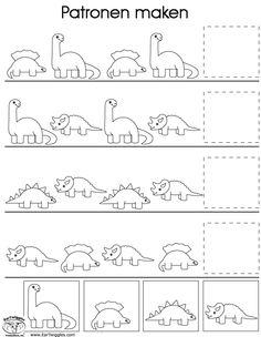 Werkblad visueel: dino
