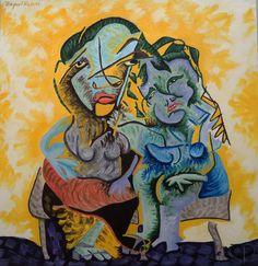 Art Lover Place - Mère et fille (Peinture) par Raquel Reis