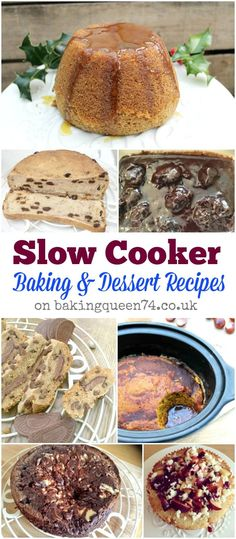 Slow cooker baking and dessert recipes on bakingqueen74.co.uk - if you want to bake or make a pudding in your slow cooker, I have you covered!