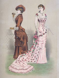 Charleston Museum - Textile Gallery - Fashion Plates    (1870s & 1880s) Leslie & Co.'s Lady's Bazar for March 1882 from Lady's Bazar