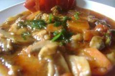 Tocanita cu ciuperci si usturoi - Culinar.ro Beef, Chicken, Food, Kitchens, Meat, Essen, Meals, Yemek, Eten