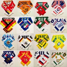 Brazil World Cup Different Countries Worlds Football Soccer Scarf Scarve 2014