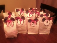 Cute for any car travel trip. Hourly countdown treat bags.
