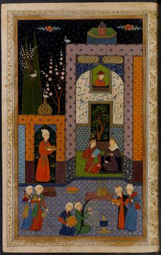 [Dīvān-i Ḥāfiẓ] Creator: Ḥāfiẓ, cent. Persian Pattern, Princeton University, Iranian Art, Islamic Art Calligraphy, Equine Art, Illuminated Manuscript, Color Pallets, Contemporary Art, Oriental