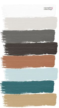 Teal Living Rooms, Living Room Color Schemes, Living Room Colors, Grey And Brown Living Room, Living Room Decor Palette, Copper Living Room Decor, Teal And Copper Bedroom, Color Schemes With Gray, Interior Colour Schemes