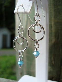 Simple chain earrings