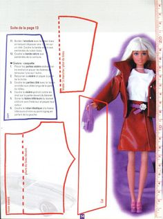 Photo: Diy Clothes Patterns, Barbie Sewing Patterns, Doll Dress Patterns, Diy Barbie Clothes, Fairy Clothes, Sewing Clothes, Bjd, Barbie Et Ken, Barbie Wardrobe