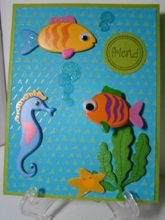 Card by Shirley for Happy Birthday Crop Doin' the Wave Challenge at http://www.scrapzee.com