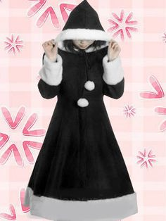 2afb7f671df7 Buy Cute Black Hood Wool Women s Lolita Overcoat at Wish - Shopping Made Fun