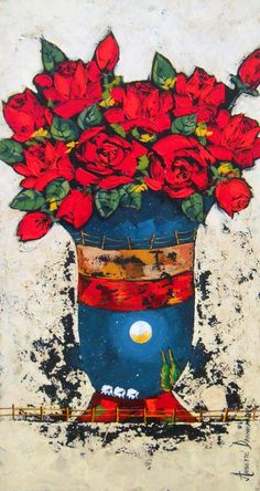 Annette Dannhauser - Rose Vase 1 x Rose Vase, Paint And Sip, Decoupage, Art Gallery, Pastel, Artist, House, Painting, Art Museum