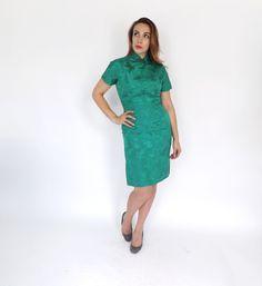 Jahrgang der 1960er Jahre Jade Grün Floral von alicksandraflin