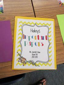 """Love these homework folders or """"Take Home"""" folders..."""