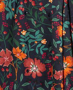 PRINTED MIDI DRESS Zara Outfit, Print Patterns, Curtains, Prints, Dresses, Decor, Design, Block Prints, Vestidos