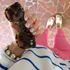 Spring must-haves: stripes, sunnies, candy-colored denim and Jack Rogers! #lovemyjacks