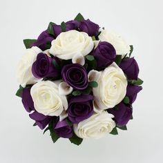 Firenze Flora: Beautiful Purple Wedding Bouquet