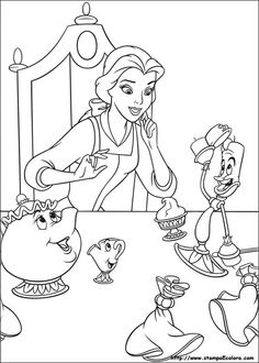 33 Beauty And The Beast Printable Coloring Pages For Kids Find On Book Thousands Of