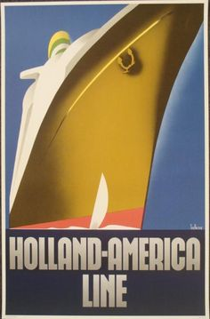 Holland America Line by Adolphe Mouron Cassandre