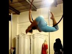 Aerial hoop lion rolls - YouTube