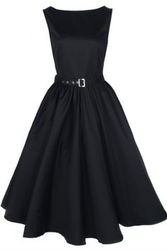 Lindy Bop 1950's Audrey Hepburn style rockabilly swing party vintage black evening dress