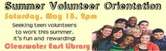 Summer volunteers needed. Call 727-562-4970 for more information    May 18, 2013