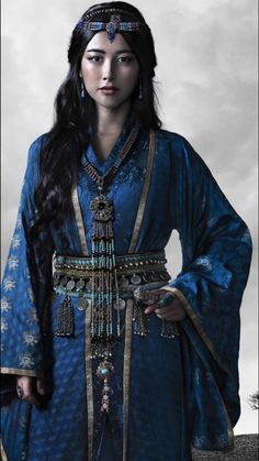 Zhu Zhu as Kokochin, the Blue Princess, in the Netflix series, Marco Polo //