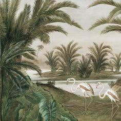 Paysages en grisaille - Les rives du Nil - Grisaille - L600xH260 cm - 6 lés de 100 cm - Ultra mat