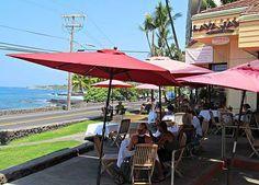 Lava Java Coffee Shop and Rest in Kailua-Kona, Big Island, Hawaii.