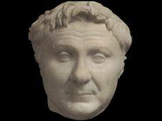 Busto di Pompeo I sec a.C marmo Tomba dei licinii Roma