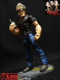 Popeye the Sailor Man Custom Action Figure by Leo Customs