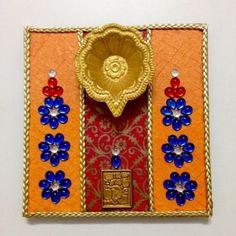 Diy kundan rangoli design on ohp sheet how to make jk for Diya decoration youtube