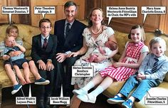 Tory 'young fogey' Jacob Rees-Mogg, 48, proudly shows off his brood