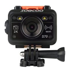 SOOCOO S70 World Debut 2K@30fps 1080FHD@60fps 60m Waterproof WiFi Sports Action Camera with Watch Remote Control #Affiliate