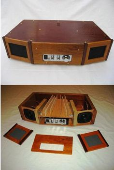 On our Timeline you can post photos of your audio/visual projects, home theater set ups, or your latest and greatest ideas. We love to see your projects. Diy Bluetooth Speaker, Bluetooth Speakers, Wooden Speakers, Built In Speakers, Radios, Diy Amplifier, Speaker Plans, Speaker Box Design, Sound Speaker