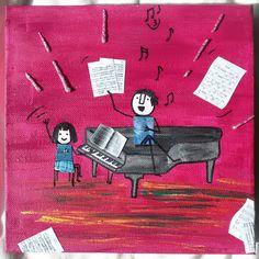 Con el profe de piano