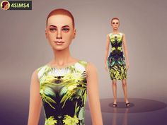 Green female dress: Found in TSR Category 'Sims 4 Female Everyday' Sims 4 Tsr, Green Dress, Give It To Me, Female Dress, Clothes, Dresses, Fashion, Outfits, Vestidos