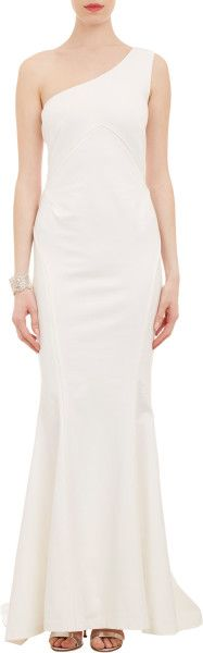 Zac Posen reworks a classic look with modern elegance.  Oneshoulder Fulllength Gown @Lyst