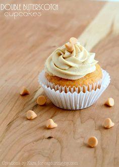 butterscotch cupcakes #recipe